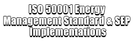 ISO 50001 Energy Management Standard & SEP Implementations Logo